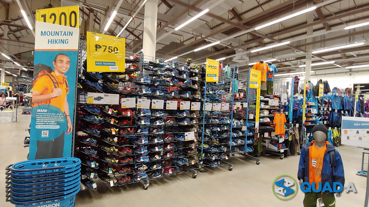 Decathlon hiking section