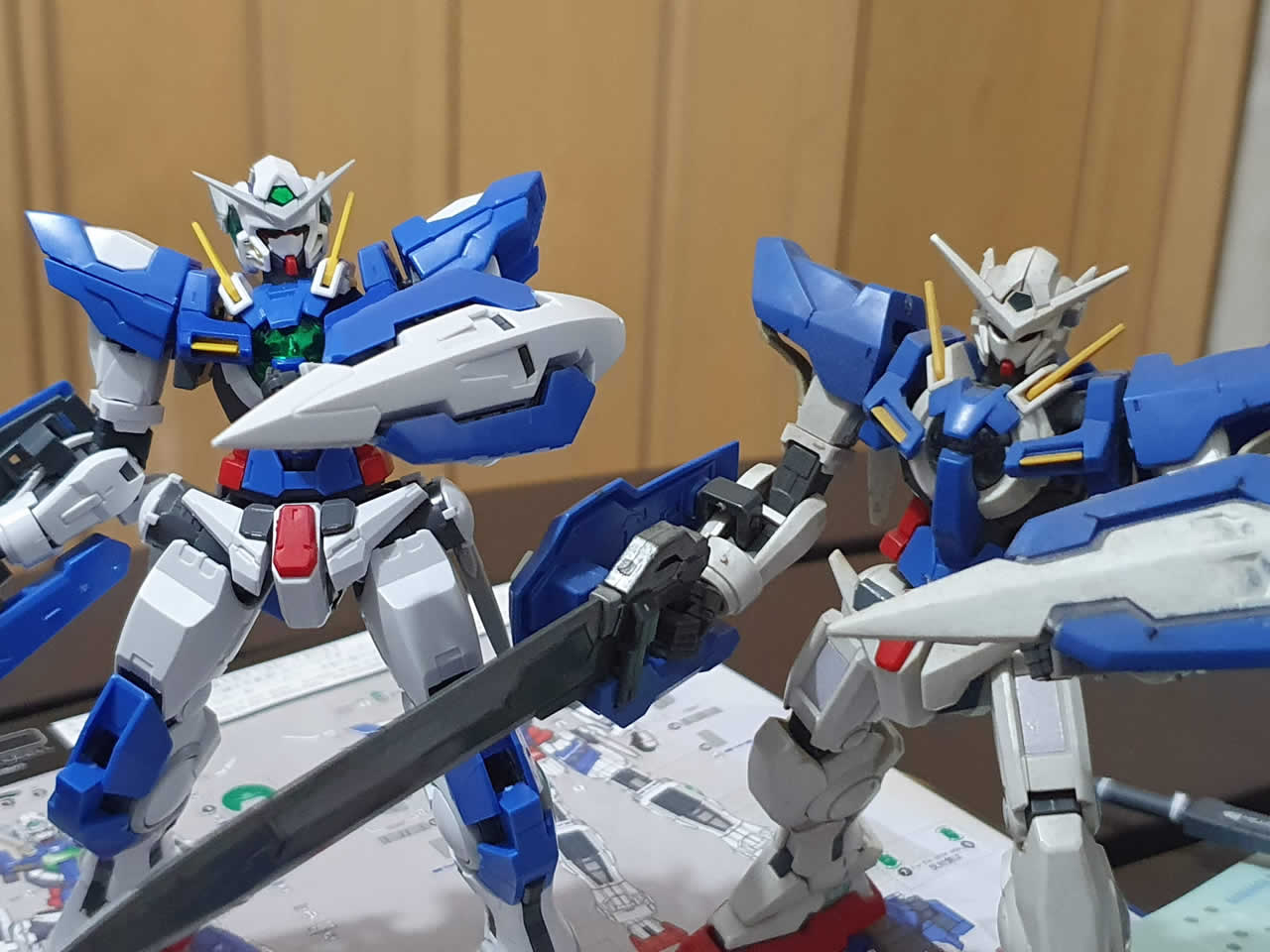 Comparison between the Exia Repair 3 RG and old Exia HD model