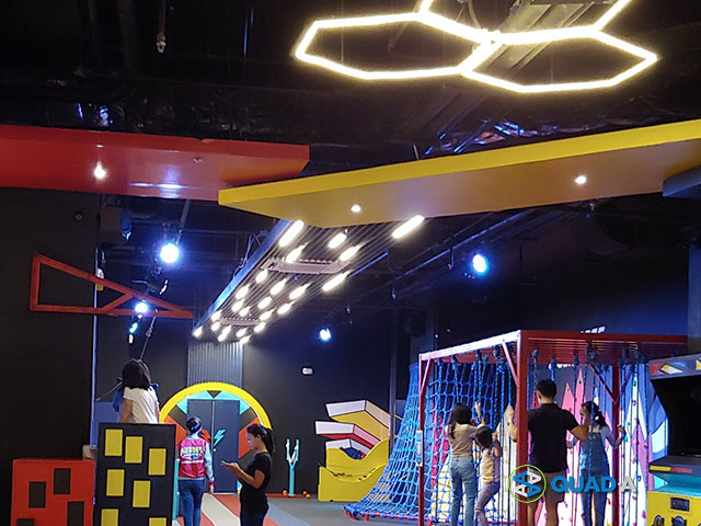 Heroes HQ Playground contains obstacle course, slides, mini zip line and other attractions for kids