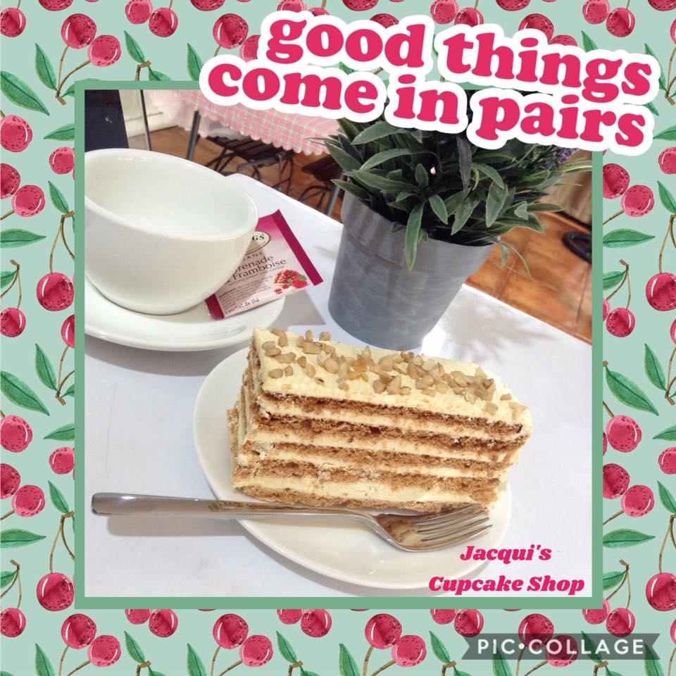 Sansrival sliced cake near Quezon City, Manila: great pair for coffee