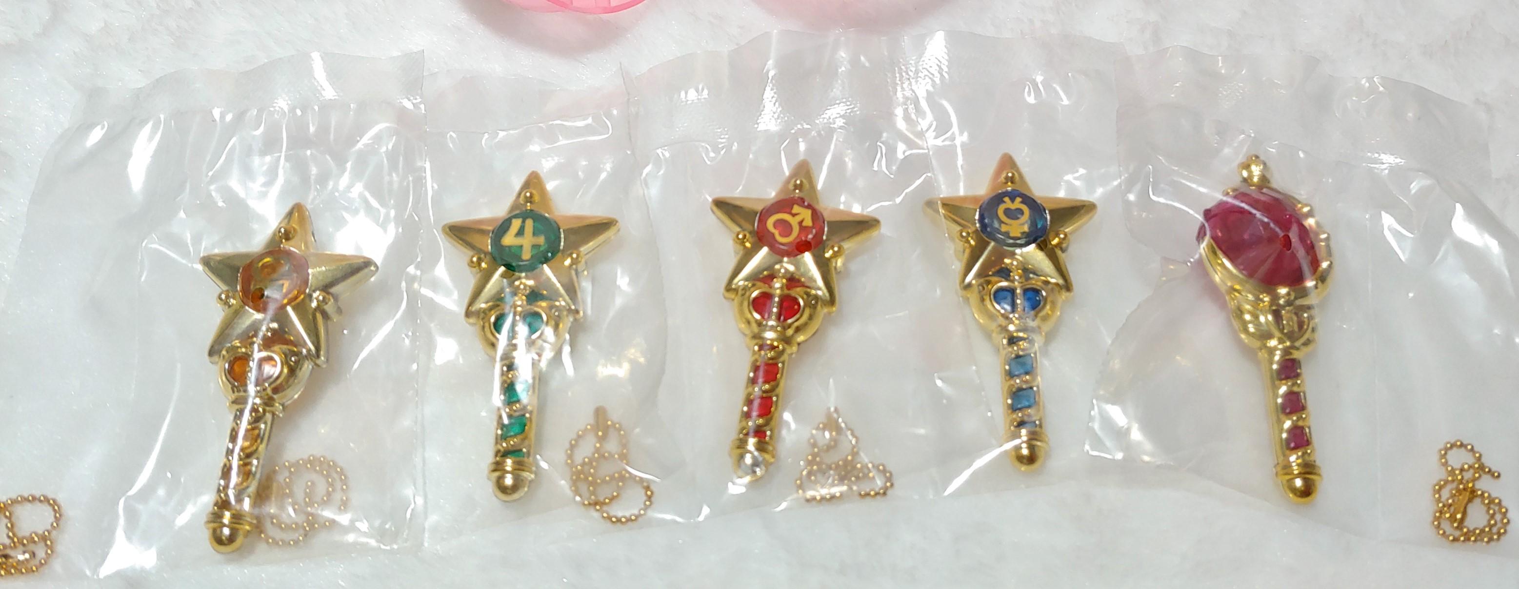 Sailormoon Crystal Stick and Rod Gashapon Keychain by Bandai