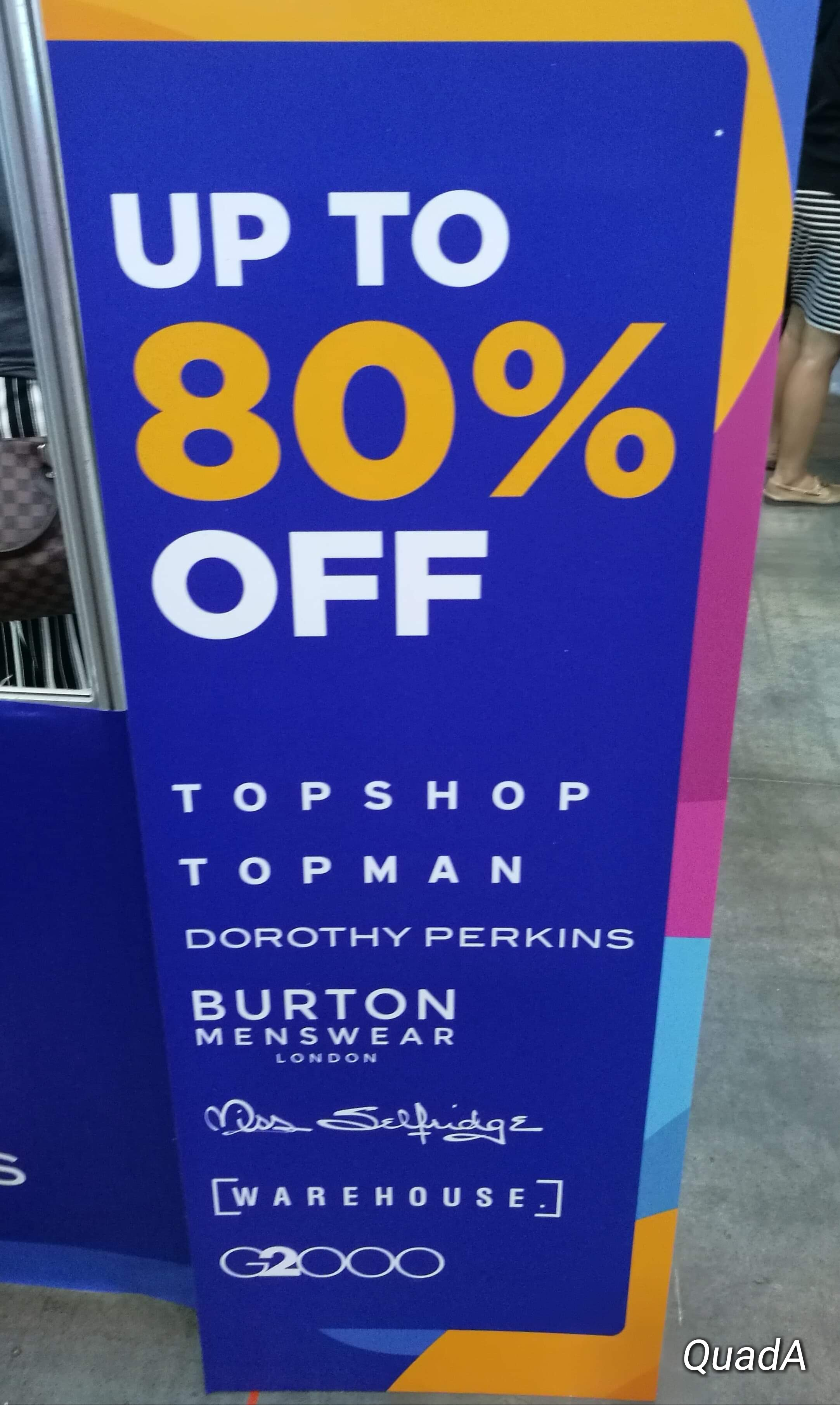 Sale items: Dorthy Perkins,Topshop, TopMan, Burton, etc.