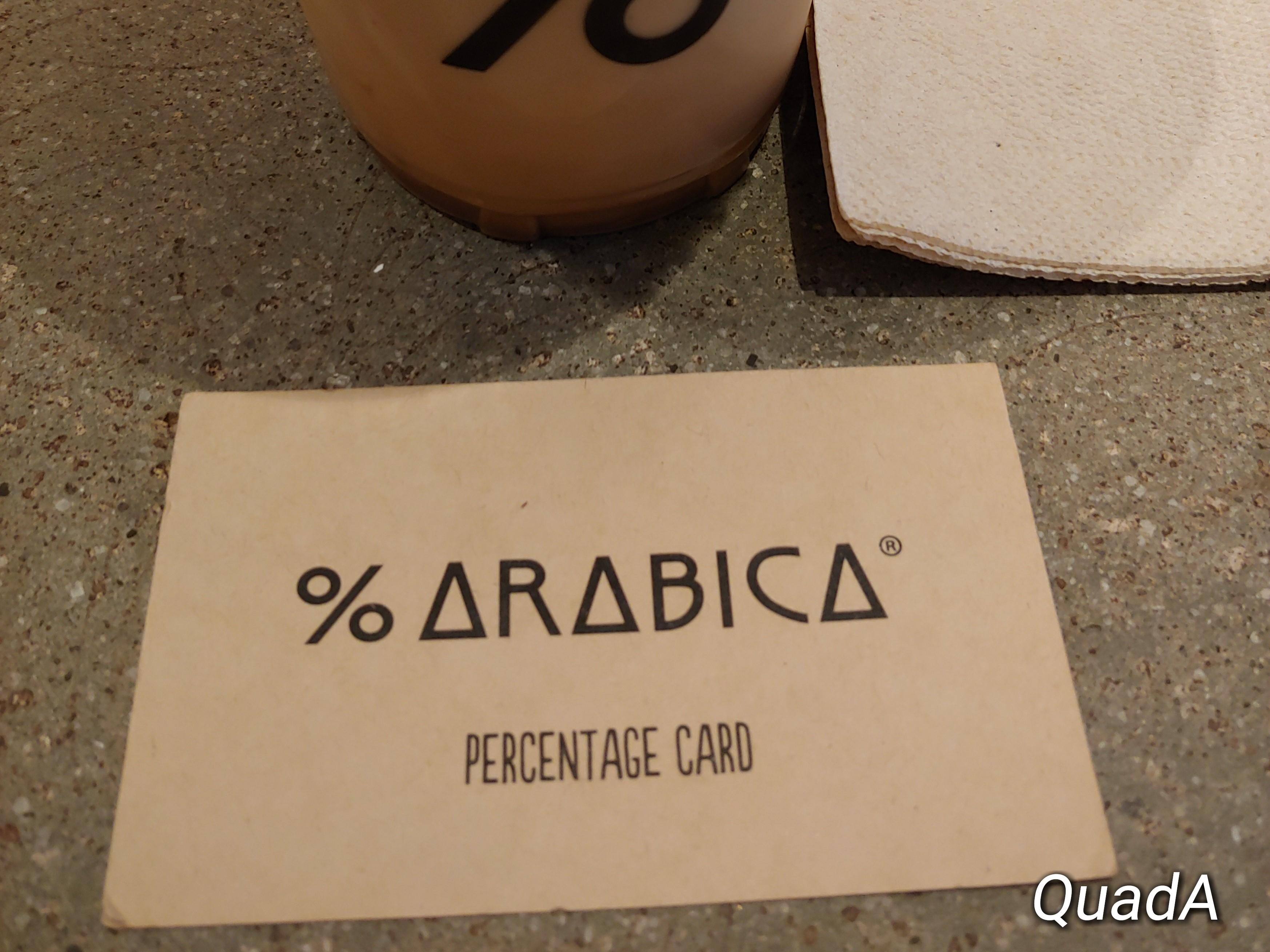 Arabica percentage card