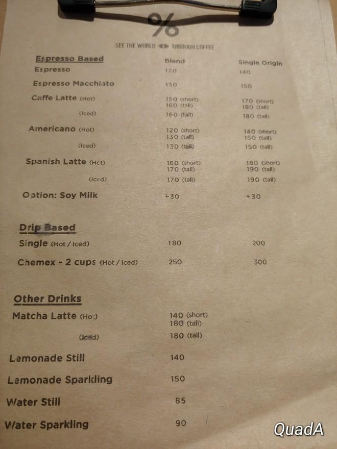 Arabica ph menu
